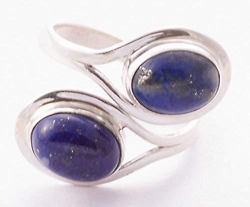 Lapislazuli Ring, Lapislazuli Silber Ring, 925 Sterling Silber, Edelstein-Ring, Silber Ring, Lapis Silber Ring, blauer Ring Größe 14 bis 22 DE (5 Damen-ehering Größe)