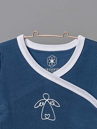 Organic by Feldman Unisex Baby Body Kurzarm Wickelbody aus Bio Baumwolle, GOTS Zertifiziert, Schutzengel Ozeanblau, (50/56) - 3