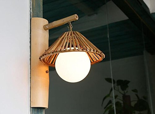 Retro dekorative Wand Lampe einfache japanische Kreative farm Tee Bambus Lampe (Hulk Neon)