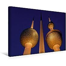 Premium Textil-Leinwand 45 cm x 30 cm quer, Ein Motiv aus dem Kalender Kuwait, Stadt am Golf | Wandbild, Bild auf Keilrahmen, Fertigbild auf echter ... Kuwaits Wassertürme (CALVENDO Orte)