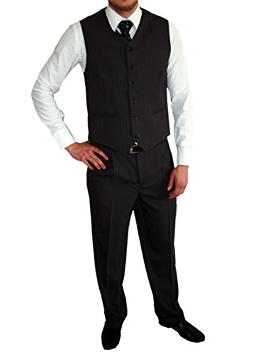 Victor - Costume - Homme Anthrazit Nadelstreifen