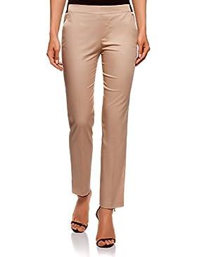oodji Ultra Donna Pantaloni 7/8 con Cintura Elastica