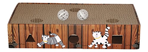 ENVIRONMENTALLY FRIENDLY CAT SCRATCHER & ACTIVITY TOY including CATNIP and TOYS 2