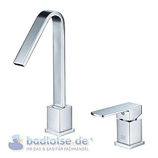 AQVADESIGN Stand-Waschtisch-Armatur 2-loch eckig Waschbecken Armatur 022751550
