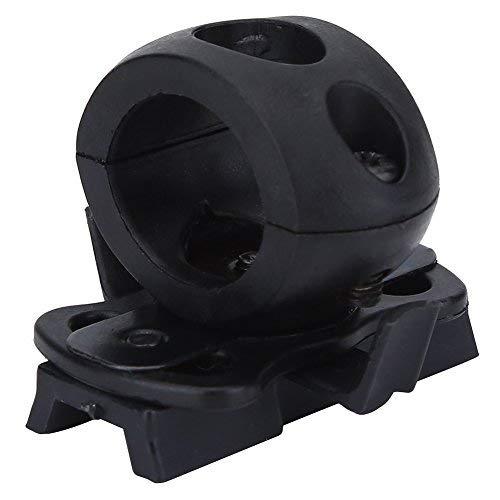 Airsoft Taschenlampe Stirnlampe Halter Schnellverschluss Clamp Holder Mount Quick Release für Helm ( Farbe : Schwarz )