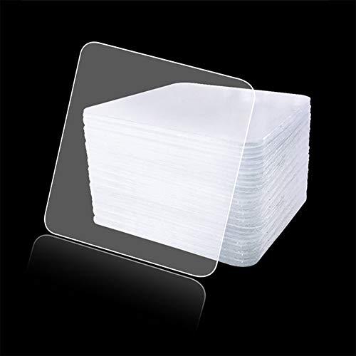 Preisvergleich Produktbild Ocamo 20 Teile / Satz transparenter Silikon-doppelseitiger Klebeband-Aufkleber Nano-freies magisches Klebeband-Antirutsch-örtlich festgelegter anhaftender
