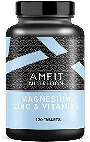 Marchio Amazon - Amfit Nutrition, Magnesio, Zinco & Vitamine (ZMA), 120 compr