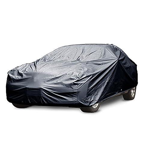 Autoabdeckung Vollgarage für Winter & Sommer | dunkelblau | passende Größe wählbar (Größe XL: (Vollgarage Autoplane)