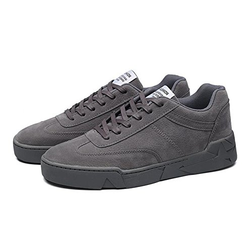 Herrenschuhe Beiläufige Schuhe der Männer im Freien übungs-Turnschuh-Mode-Plattform beschuht Breathable Schnürschuhe (Color : Gray, Size : 40) (Sneakers Canvas Schwarz-plattform)