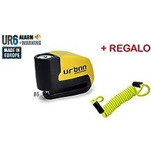 URBAN - Candado de disco UR6 con Alarma 6mm 120dba + REGALO Cable Reminder antiolvido