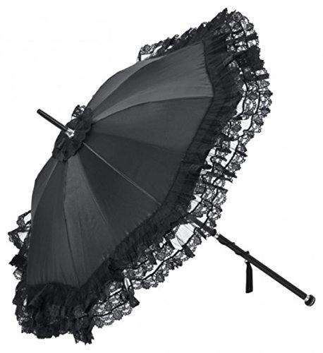 Extravaganter Luxus Damen Regenschirm von Guy De Jean aus Paris - Französisch Historischer Stil - Schwarz Bling Bling