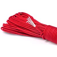 Paracord di sopravvivenza della corda corda fatta di un forte cordone paracadute di Paracord Corde 550 lbs 31 metri (100 ft) nel colore rosso (NOTA: QUESTO NON È PREVISTO PER SCALATA CORDA PARACORD ADATTO) NEW dal PRECORN marchio