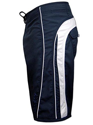 SEESTERN Herren Boardshorts Surfshorts Boardshort Surf Short Bade Shorts XS-3XL Blau