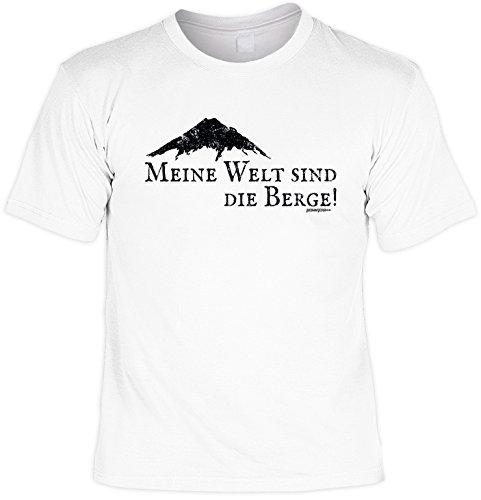 T-Shirt zum Wandern T-Shirt Meine Welt sind die Berge! Bergsteiger Skifahrer Snowboardfahrer Alpinisten Ski Tour Wander Tour Wanderkleidung