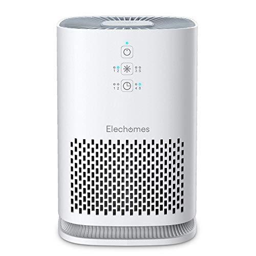 5-in-1 Luftreiniger mit HEPA-Kombifilter und 99,97% Filterleistung,Elechomes Aromatherapie Luftreiniger,Timer, Aktivkohlefilter Optimal für Allergiker, Raucher-entfernt Rauch, Gerüche und Schadstoffe