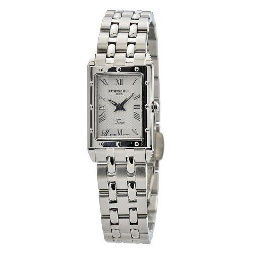 Raymond Weil 5971-ST-00658Tango–caja rectangular de la mujer Dial de plata reloj