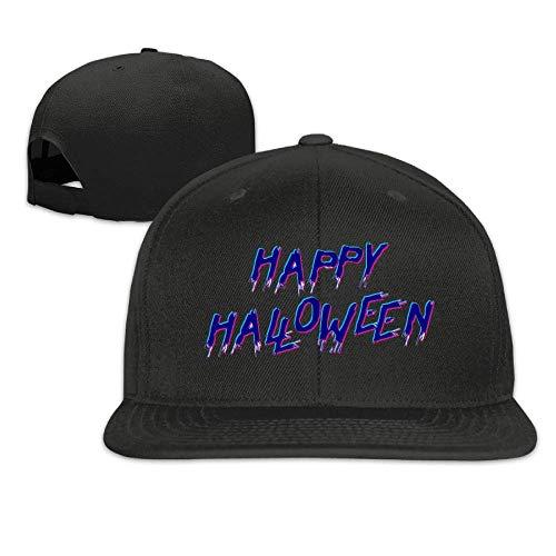 Happy Halloween Hip Hop Baseball Cap Adjustable Flat Brim Hat Outdr Sport Baseball Hat Unisex (Halloween Hip Hop Happy)
