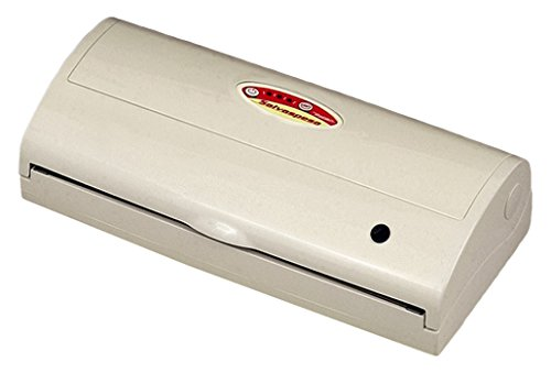 Reber 9340 N Apparecchio per Confezionamento Sottovuoto Automatico Salvaspesa, -830Mb, 18Lt/Min, 180W, Bianco
