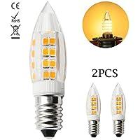 1819 E14 LED Lampadine ceramica 5W Sostituire 40W Lampada Alogena Bianco Caldo 3000K AC 220-240V 360 gradi angolo del fascio (Confezione da 2)