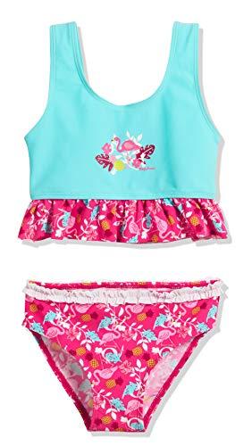 Playshoes Mädchen UV-Schutz Bikini Flamingo Tankini, Türkis (Türkis 15), 110 (Herstellergröße: 110/116)