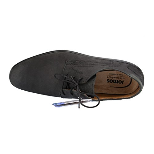 Jomos 20820312Messieurs Derby Chaussures basses–lacets de chaussures dans différentes tailles Noir - Noir