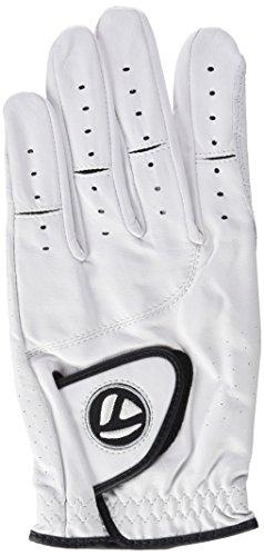 TaylorMade Golf Men's 2015 Targa Golfhandschuh für Rechtshänder, Leder Weiß weiß ML (Custom-fit-handschuhe)