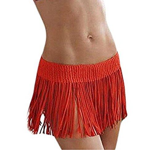 Jastore®rock strand bikini cover up hawaii gehäkelt boho Damen Strandponcho Sommer Überwurf Kaftan Strandkleid Orange
