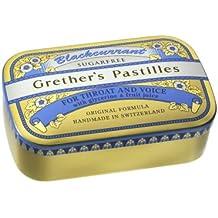 Grether's Pastilles Blackcurrant Sugarless 110g - Pack of 45 Lozenges