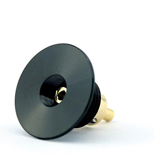 Vape & Make 510 F3D Squonker Konnektor, 22mm, vergoldete Konntakte, Farbe schwarz (Rohr Mod Vape)