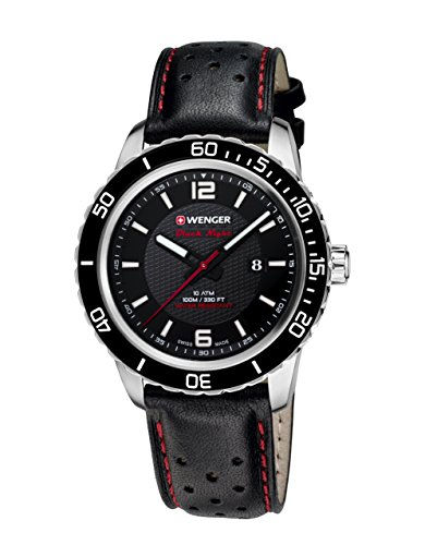Wenger Unisex-Armbanduhr 01.0851.120 ROADSTER BLACK NIGHT Analog Quarz Leder 01.0851.120 ROADSTER BLACK NIGHT