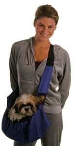 Pet Sling. Sac de transport chien, pour les petits chiens et animaux domestiques. Couleur bleu