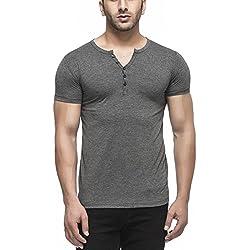 Tinted Men's Solid Slim Fit T-Shirt (TJ103RH_Anthera_Large)