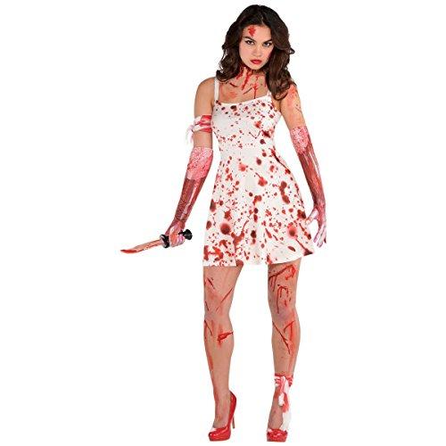 Blutiges Kleid Damen-Frauen Fancy Dress Spooky Halloween Zombie Erwachsene Kostüm