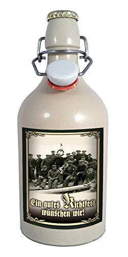 Richtfest 0,5 Liter Tonflasche mit Bügelverschluss
