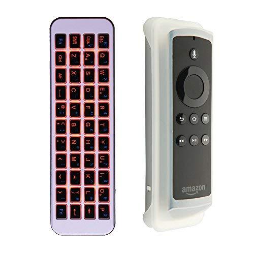 iPazzPort Wireless Mini Bluetooth Tastatur Arbeit für Fire TV Stick zu Typ und Suche QWERTY British Layout