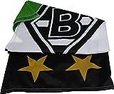 Unbekannt VFL Borussia Mönchengladbach Herren Borussia Mönchengladbach-Fohlenelf-Artikel-Hissfahne Raute-150 x 100 cm Flagge