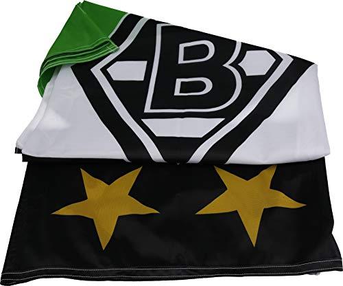 Unbekannt VFL Borussia Mönchengladbach Herren Borussia Mönchengladbach - Fohlenelf-Artikel - Hissfahne Raute - 150 x 100 cm Flagge Mehrfarbig