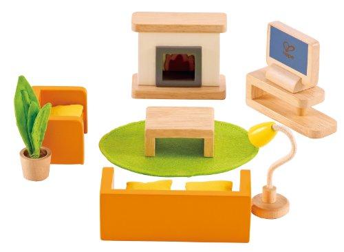 Hape Puppenhaus-Wohnzimmer 9-teilig (E3452)