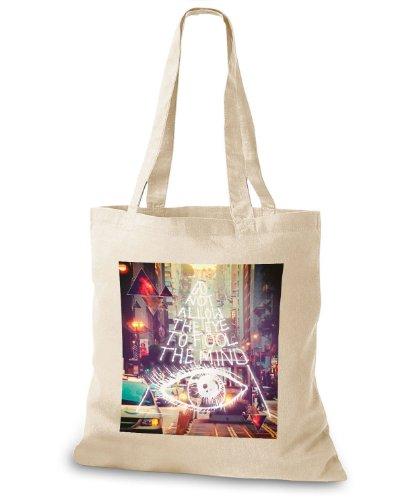 Stylo bags iuta borsa/custodia Do not allow the eye Beige (Crema)