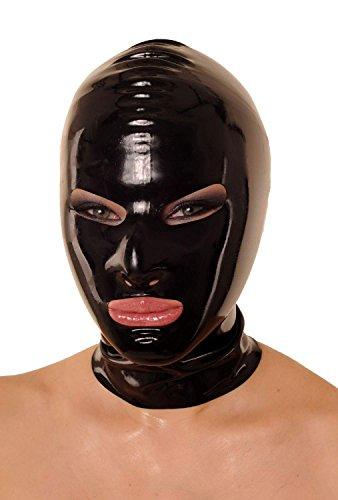 Anita Berg AB4022Z Latex Maske Öffnungen Augen Mund, Latexmaske mit Reißverschluss, M (Latex Masken Billig)