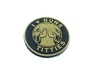 I ? Guns & Titties Bronzage PVC Airsoft Moral Patch