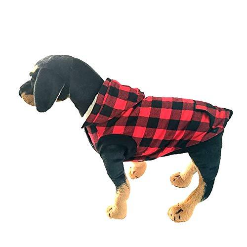 Amphia - Hundebekleidung T-Shirt,Warme Baumwollmantel mit Abnehmbarer Kappe für Hundekleidung - Stilvolle Hund Winter weiche warme Mantel Puppy Fleece Jacke ()