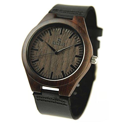 Relojes-de-pulsera-de-madera-de-bano-ocasionales-por-Redear-con-la-correa-de-cuero-genuina-del-zurriago-y-el-reloj-anlogo-del-cuarzo-japons