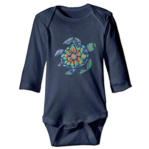 WBinHua Bodys et Combinaisons, Tie Dye Turtle Baby Infant Long Sleeve Onesies Bodysuits
