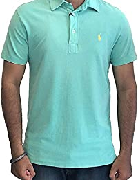 900ffb32c Polo Ralph Lauren Men's Regular Fit Featherweight Mesh Polo T-Shirt Green
