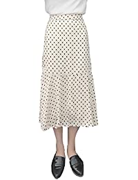 Damen Chiffon Rock Sommer Vintage Polka Dots Hohe Taille A-Linie Mode  Elegant Maxirock Röcke 5d50fa02ed