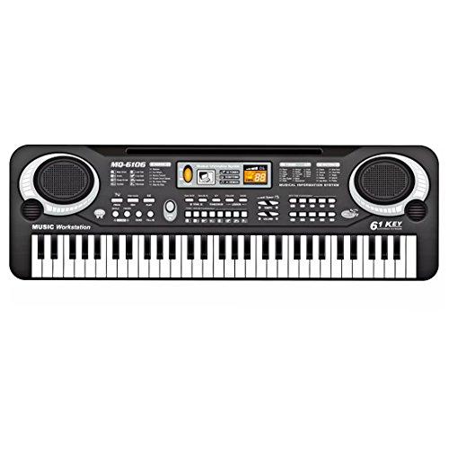 Foxom Klavier für Kinder, 61-Tasten Klavier Keyboard Klavier Spielzeug für Kinder, Kann Handy-Tablet Mikrofone Verbinden, 54.1*17.1*5.2CM (61 Tasten Keyboard Klavier)