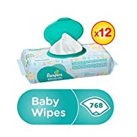 Pampers Fresh Clean Baby Wipes, (768 Count)