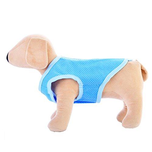 Linlink Sommer Haustier Kühlweste Stilvolle Bequeme Kühle T-Shirt Haustier Kleidung im Freienjacke