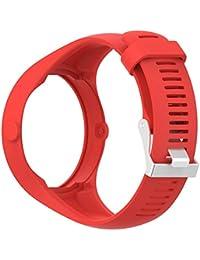 DIPOLA Correa para la muñeca de Caucho de Silicona Suave para el Reloj Polar M200 Fitness_Rojo